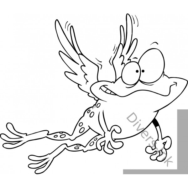 Flying Frog Drawing View Full Size Flying Frog