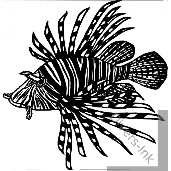 Color Therapy Coloring Pages Lionfish